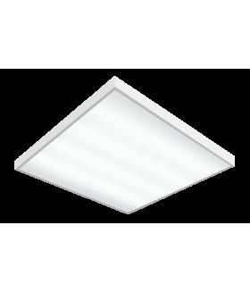 Светильник светодиодный Gauss IP20 595*595*19мм 36W 2570lm 6500K офисный матовый рассеиватель 1/4