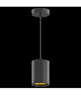 LED светильник накладной (подвесной) HD042 12W (черный/золото) 4100K 79*100мм 1/20