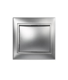 """Выключатель 1-клавишный 10А серебро, """"Венера"""" (SBE-01s-10-SW1-0-c)"""