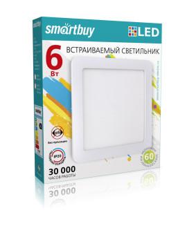Встраиваемый (LED) светильник DL Smartbuy Square-6w/6500K/IP20 (SBL-DLSq-6-65K)/100