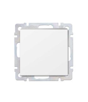 """Выключатель проходной 1-клавишный 10А белый """"Нептун"""" (SBE-05w-10-SW12-0)"""