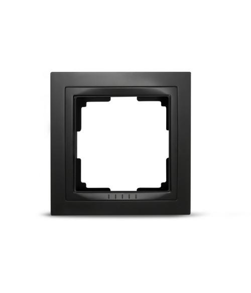"Рамка 1-местная пластик черная ""Нептун"" (SBE-05b-Plastic-FR-1)"