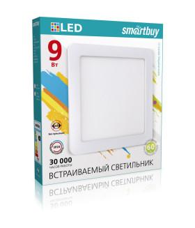Встраиваемый (LED) светильник DL Smartbuy Square-9w/4000K/IP20 (SBL-DLSq-9-4K)/40