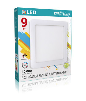 Встраиваемый (LED) светильник DL Smartbuy Square-9w/6500K/IP20 (SBL-DLSq-9-65K/40