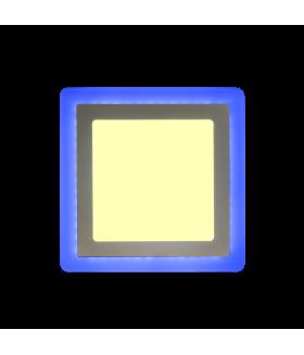 Встраиваемый (LED) светильник Квадрат с подсветкой DLB Smartbuy-13w/3000K+B/IP20 (SBLSq-DLB-13-3K-B)