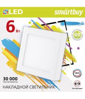 Накладной (LED) светильник Square SDL Smartbuy-6w/4000K/IP20 (SBL-SqSDL-6-4K)/100