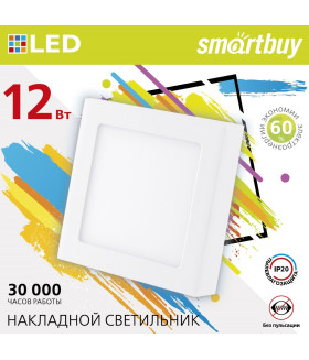 Накладной (LED) светильник Square SDL Smartbuy-12w/4000K/IP20 (SBL-SqSDL-12-4K)/40