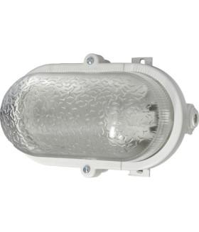 Светильник ЭРА НБП 01-60-012 с ободком Евро пластик / стекло IP53 E27 max 60Вт 184х115х90 овал белый