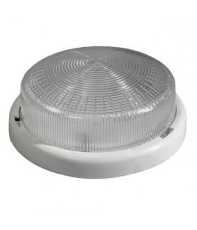Светильник ЭРА НБО 05-100-001 с ободком Рондо пластик/стекло IP44 E27 max 100Вт круг белый