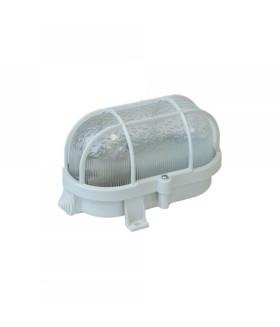 Светильник ЭРА НБП 01-60-002 с решеткой Евро пластик/стекло IP53 E27 max 60Вт 184х115х90 овал белый