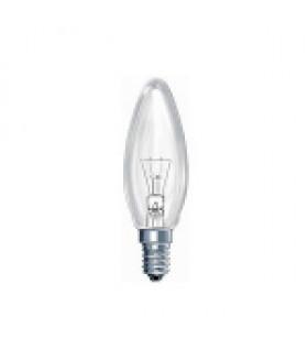 Лампа накаливания КАЛАШНИКОВО ДС (B36) 40Вт 230-240V E14 свечка прозрачная в цветной гофре