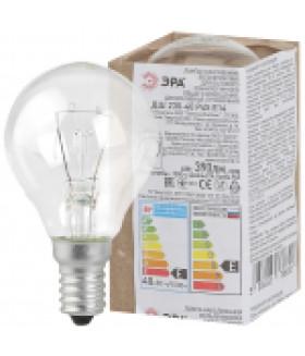 Лампа накаливания ЭРА ДШ (P45) шар 40Вт 230В Е14 в гофре ДШ 40-230-Е14