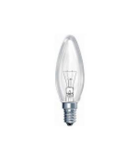 Лампа накаливания КАЛАШНИКОВО ДС (B36) 60Вт 230-240V E14 свечка прозрачная в цветной гофре