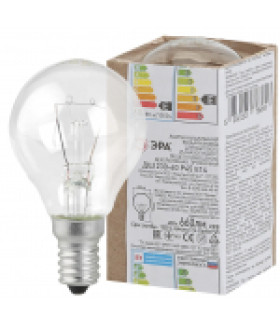 Лампа накаливания ЭРА ДШ (P45) шар 60Вт 230В Е14 в гофре ДШ 60-230-Е14
