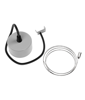 Комплект для подвеса светильников Stellar-Line, длина троса 1,2 м (1 комплект на 1 светильник) RAL9010 белый матовый