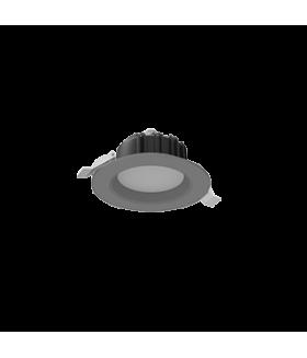 "Cветильник светодиодный ""ВАРТОН"" Downlight круглый встраиваемый 190*70 мм 16W Tunable White (2700-5700K) IP54/20 RAL7045 серый муар диммируемый по протоколу DALI"