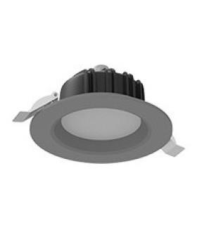 "Cветильник светодиодный ""ВАРТОН"" Downlight круглый встраиваемый 120*65 мм 11W Tunable White (2700-6500K) IP54/20 RAL7045 серый муар диммируемый по протоколу DALI"