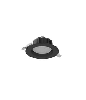 """Cветильник светодиодный """"ВАРТОН"""" Downlight круглый встраиваемый 120х65 мм 11W 3000K IP54 RAL9005 черный матовый"""
