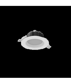"""Cветильник светодиодный """"ВАРТОН"""" Downlight круглый встраиваемый 120х65 мм 11W 4000K IP54/20 RAL9010 белый матовый аварийный автономный постоянного действия Teletest"""