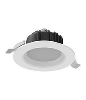 """Cветильник светодиодный """"ВАРТОН"""" Downlight круглый встраиваемый 120*65 мм 11W Tunable White (2700-6500K) IP54/20 RAL9010 белый матовый диммируемый по протоколу DALI"""