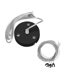 Комплект для подвеса светильников Stellar-Line, длина троса 1,2 м (1 комплект на 1 светильник) RAL9005 черный матовый