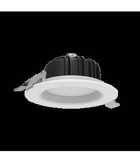 """Cветильник светодиодный """"ВАРТОН"""" Downlight круглый встраиваемый 120*65 мм 11W Tunable White (2700-5700K) IP54/20 RAL9010 белый матовый диммируемый по протоколу DALI"""