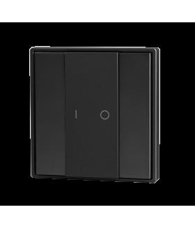 Кнопочная панель 2-х кл. (1 группа), пластиковый корпус, черный