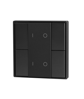 Кнопочная панель 4-х кл. (2 группы), пластиковый корпус, черный