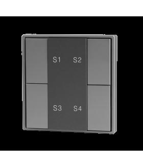 Кнопочная панель 4-х кл. (1 группа), пластиковый корпус, серый DA-SW-S4-PG