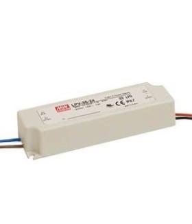 Драйвер 35 Вт 24V для светодиодной ленты Meanwell IP67 148x40x30 мм